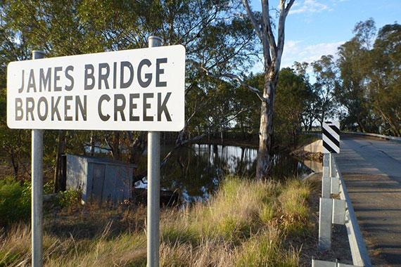 Broken Creek at James Bridge